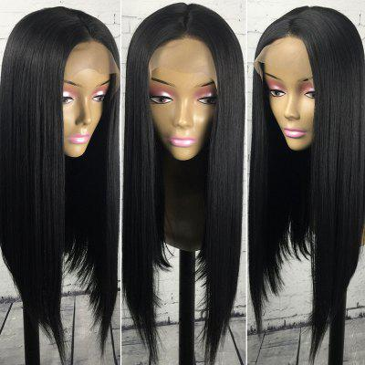 Long Center Parting Straight Synthetic Lace Front Wig