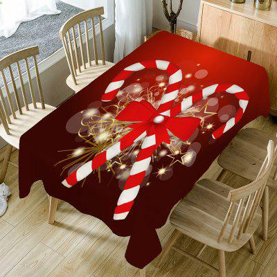 Candy Cane Print Fabric Christmas Table Cloth