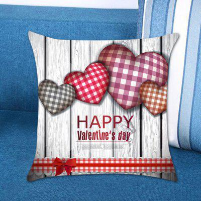 Valentine Theme Lovely Heart Printed Decorative Pillow Case