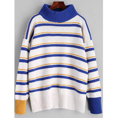 Turtleneck Stripes Pullover Sweater