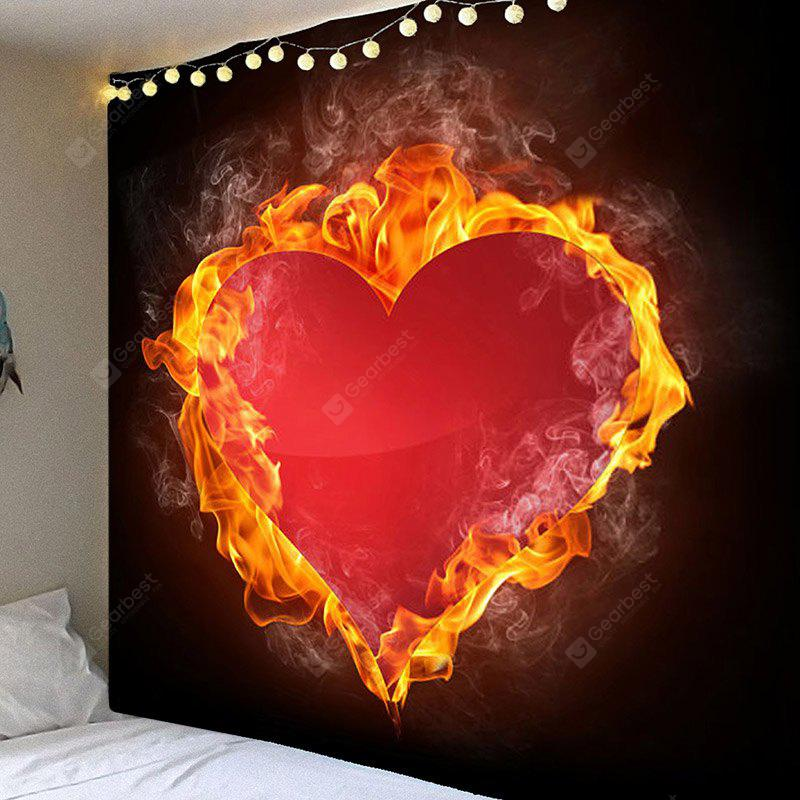 Valentine's Day Fiery Heart Pattern Wall Hanging