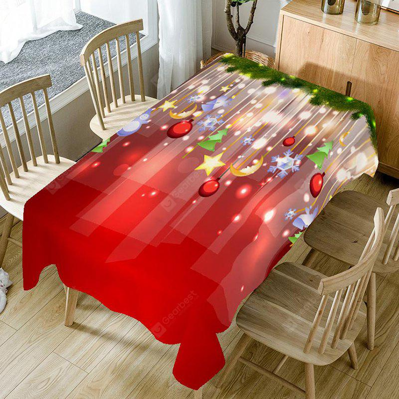 Home Decor Christmas Ball Printed Table Cloth