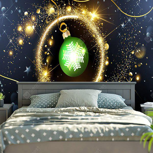 Christmas Ball Ornament Patterned Wall Hanging