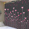 Waterproof Love Heart Forest Printed Wall Tapestry - PINK