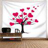 Valentine's Day Love Heart Tree con motivos de pared colgante - ROJO