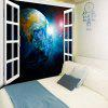 3D Window Scenery Planet Print Wall Hanging Tapestry - Цветной