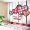 Tartan Plaid Heart Pattern Valentine's Day Wall Hanging - COLORFUL