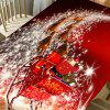 Christmas Starlight Carriage Pattern Table Cloth - RED