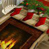 Christmas Fireplace Printed Table Cloth - COLORFUL