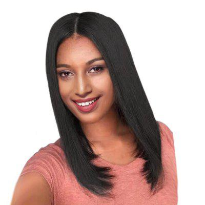 Medium Center Parting Straight Bob Heat Resistant Synthetic Wig medium long wavy heat resistant fiber hair white lace front synthetic wig