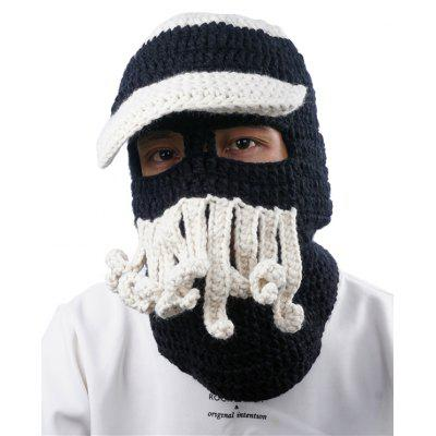 Outdoor Beard Decoration Crochet Knitted Beanie