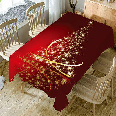 Starlight Christmas Tree Pattern Decorative Table Cloth