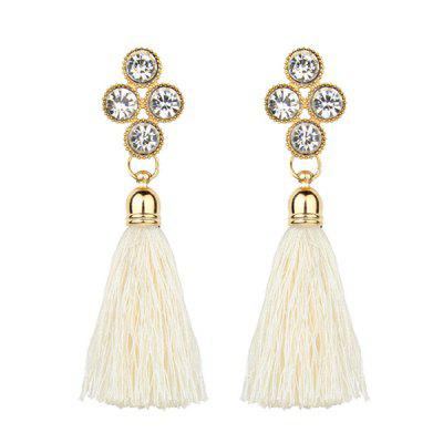 Bohemia Faux Crystal Tassel Style Drop Earrings