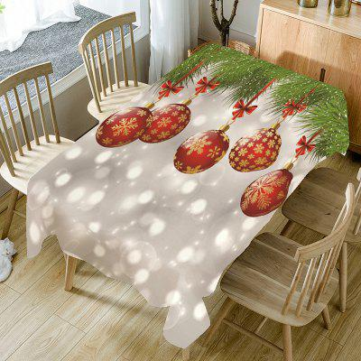 Christmas Snowflake Bauble Bubble Printed Table Cloth