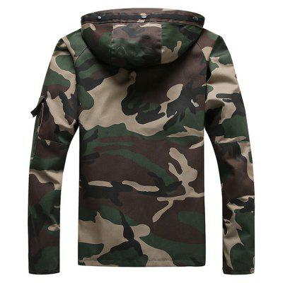 Hooded Zip Camp Camo Up Jacket TnTw0x5rA