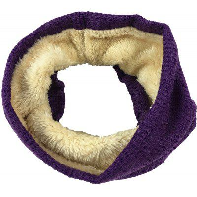 Outdoor Striped Pattern Thicken Knitted Infinity Scarf