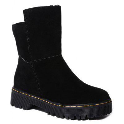 Low Heel Fold Over Snow Boots