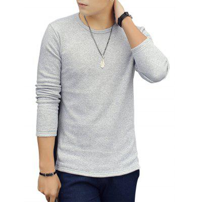 Crew Neck Thermal Long Sleeve Tee