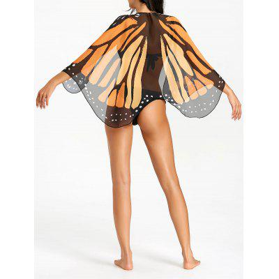 Mousseline de soie Sheer Butterfly Wing Beach Cover Up