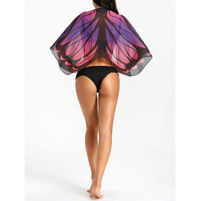 Butterfly Printed Beach Cover Up