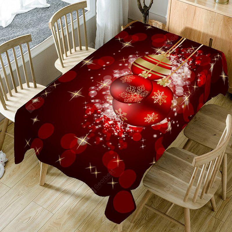 Christmas Bauble Bubble Printed Table Cloth