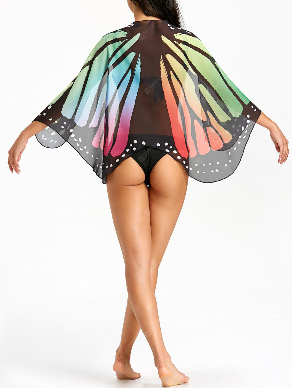 Butterfly Sheer Beach Cover Up