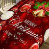 Merry Christmas Theme Home Decoration Table Cloth - RED