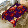 Christmas Ball Bowknot Printed Table Cloth - RED