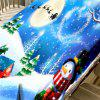 Christmas Snowscape Printed Waterproof Fabric Table Cloth - COLORMIX