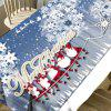 Hordes of Santa Claus Flower Printed Waterproof Fabric Table Cloth - COLORMIX