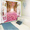 Window Scenery Trees Fallen Petal Print Wall Tapestry - COLORMIX