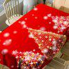 Neon Christmas Trees Print Waterproof Fabric Table Cloth - RED