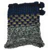 Outdoor Colormix Pattern Chunky Knitted Infinity Scarf - GRAY AND BLUE