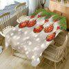 Christmas Snowflake Bauble Bubble Printed Table Cloth - COLORFUL