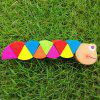 Changeable Colorful Wooden Caterpillars Shape Kids Educational Toy - COLORFUL