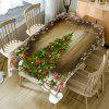 Christmas Tree Pattern Table Cloth - COLORFUL