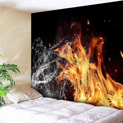 Wall Hanging Water e Fire Print Tapestry