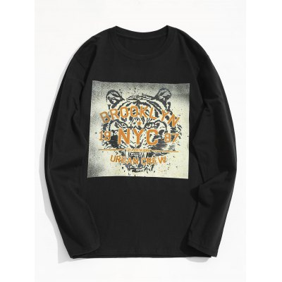 Long Sleeve Tiger Graphic Tee