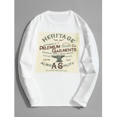 Cotton Long Sleeve Graphic Tee