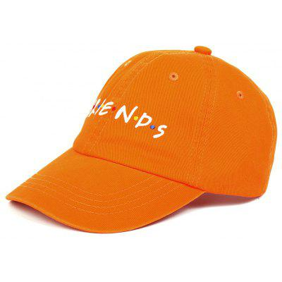 Outdoor FRIENDS Pattern Embroidery Adjustable Baseball Hat built clear hat baseball cap male summer print sunscreen hat student network hat female adjustable baseball cap snapback caps