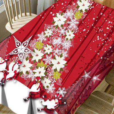 Flower Christmas Tree Santa Claus Print Waterproof Table ClothTable Accessories<br>Flower Christmas Tree Santa Claus Print Waterproof Table Cloth<br><br>Material: Polyester<br>Package Contents: 1 x Table Cloth<br>Pattern Type: Christmas Tree, Floral, Letter, Santa Claus<br>Type: Table Cloth<br>Weight: 0.5000kg
