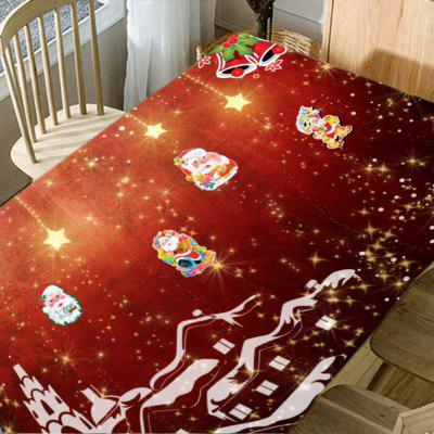 Christmas Town Santa Claus Printed Waterproof Table ClothTable Accessories<br>Christmas Town Santa Claus Printed Waterproof Table Cloth<br><br>Material: Polyester<br>Package Contents: 1 x Table Cloth<br>Pattern Type: Santa Claus, Star<br>Type: Table Cloth<br>Weight: 0.5000kg