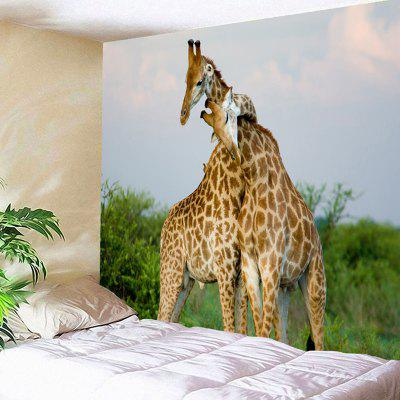 Wall Hanging Giraffe Couple Print Tapestry