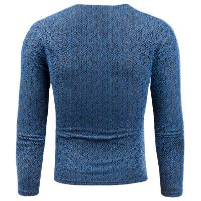 V Neck Knitted Long Sleeve Applique T-shirtMens Long Sleeves Tees<br>V Neck Knitted Long Sleeve Applique T-shirt<br><br>Collar: V-Neck<br>Embellishment: Appliques<br>Material: Cotton, Polyester<br>Package Contents: 1 x T-shirt<br>Pattern Type: Solid<br>Season: Fall, Winter<br>Sleeve Length: Full<br>Style: Fashion, Casual, Streetwear<br>Weight: 0.3000kg
