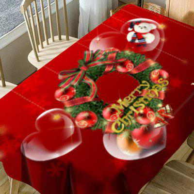 Christmas Wreath Heart Bear Print Waterproof Table ClothTable Accessories<br>Christmas Wreath Heart Bear Print Waterproof Table Cloth<br><br>Material: Polyester<br>Package Contents: 1 x Table Cloth<br>Pattern Type: Animal, Ball, Bowknot, Heart, Letter<br>Type: Table Cloth<br>Weight: 0.5000kg