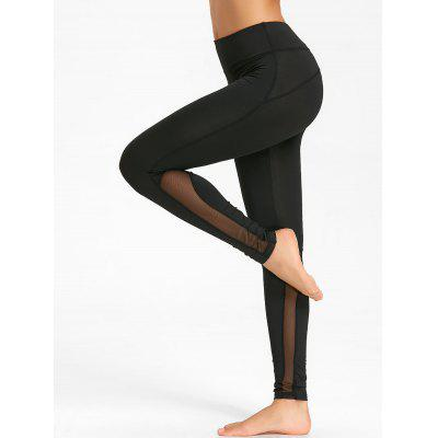 Skinny Mesh Insert Workout Tights