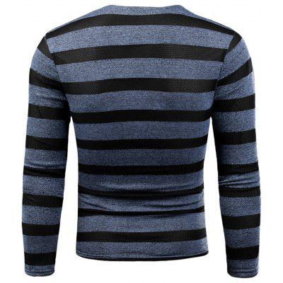 V Neck Knitted Long Sleeve Stripe T-shirtMens Long Sleeves Tees<br>V Neck Knitted Long Sleeve Stripe T-shirt<br><br>Collar: V-Neck<br>Material: Cotton, Polyester<br>Package Contents: 1 x T-shirt<br>Pattern Type: Striped<br>Season: Fall, Winter<br>Sleeve Length: Full<br>Style: Casual, Fashion, Streetwear<br>Weight: 0.3300kg