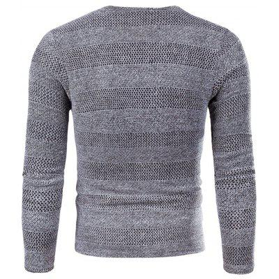 V Neck Knitted Long Sleeve T-shirt ctsmart geometric print long sleeve button down shirt