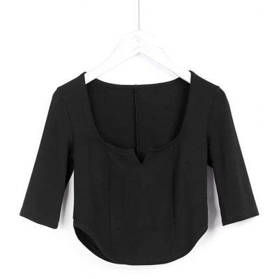 Siit Collar Cropped Top
