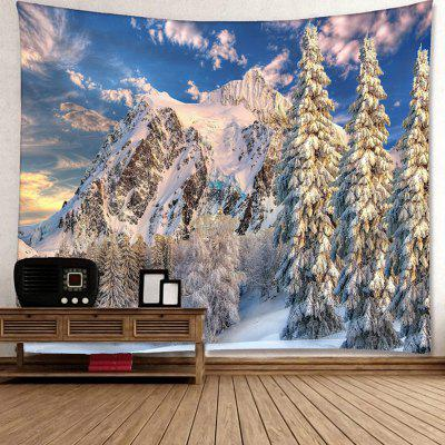 Snow Mountain Printed Wall Hanging